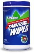 SaniDate 125 ct case (6) Sanitizer Wipes
